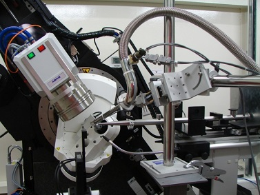 View of the 4-circle diffractometer